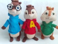 Adorable My 1st Set of Three 'Alvin & the Chipmunks' Plush Toys